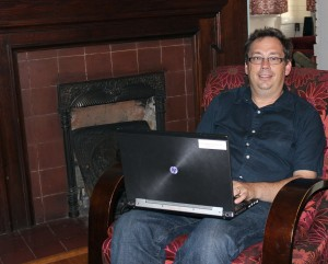 Dr. Chris Brown in his natural writing environment. (Sheila Scott)
