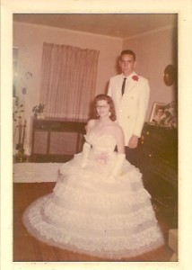 C. T. Hill and Brenda Harrison, Dr. Julie Hill's parents, before UTMB's (what UTM was called in 1962) Military Ball on Jan. 26, 1962. (Julie Hill)