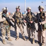 This is the fire team that Lance Cpl. James Copeland served with in Fallujah, Iraq. Pictured from left to right is Lance Cpl. Ojok, Lance Cpl. Simmerson, Lance Cpl. Ward and Lance Cpl. James Copeland. (James Copeland)