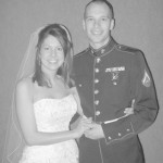 "Alexis ""Lexie"" Cole and Lance Cpl. James Copeland were married March 2008. (James Copeland)"