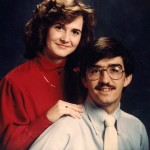Dr. Michael Gibson and Edie Bolton's 1983 engagement picture. (Michael Gibson)