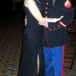 Cpl. James Copeland and Lexie Copeland enjoyed an evening out at the Marine Ball in Nashville, Tenn. (James Copeland)