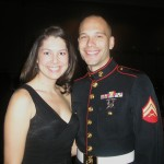 Cpl. James Copeland and Lexie Copeland had fun at the Marine Ball in Nashville, Tenn. (James Copeland)