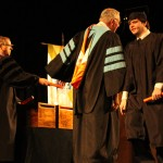 L-R Dr. Jerald Ogg, Chancellor Tom Rakes and Trevor Torre (Bradley Stringfield)