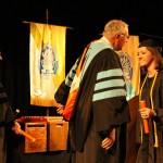 L-R Dr. Jerald Ogg, Chancellor Tom Rakes and Melinda Dortch (Bradley Stringfield)