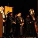 L-R Chancellor Tom Rakes, Dr. Renee Bailey Iacona, Dr. Joe DiPietro, Dr. Margaret Toston, Dr. Roberto Mancusi (Bradley Stringfield)