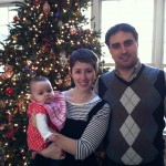Dr. Erin Garcia-Fernandez and Dr. Anton Garcia-Fernandez celebrate Libby's first Christmas with her. (Anton Garcia-Fernandez)