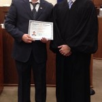 Dr. Anton Garcia-Fernandez with Judge Pham right after his Naturalization Ceremony on Dec. 9, 2013, at the Western District Courthouse in Downtown Memphis. (Anton Garcia-Fernandez)