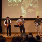 Members of the House Band perform a Pete Seeger Tribute, featuring songs that honor Seeger, a folk singer and civil rights supporter who died last week. (John Sellers)