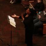 The UTM Collegiate Gospel Choir performs songs honoring the Civil Rights Movement. (John Sellers)