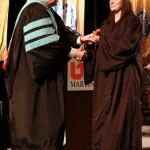 L-R Chancellor Tom Rakes and Lauren Bean (John Sellers)