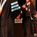 L-R Chancellor Tom Rakes and Samantha Joyner (John Sellers)