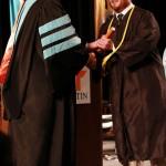 L-R Chancellor Tom Rakes and Travis Ward (John Sellers)