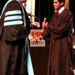 L-R Chancellor Tom Rakes and Majed Aledi (John Sellers)