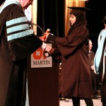 L-R Chancellor Tom Rakes and Zainab Alhanabi (John Sellers)