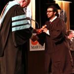 L-R Chancellor Tom Rakes and Naif Ibrahim Alnammi (John Sellers)