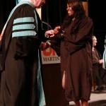 L-R Chancellor Tom Rakes and Jahna Thomas (John Sellers)
