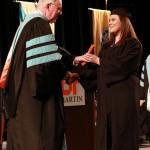 L-R Chancellor Tom Rakes and Whitney Bennett (John Sellers)