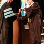 L-R Chancellor Tom Rakes and David Klinkefus (John Sellers)