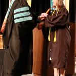 L-R Chancellor Tom Rakes and Rachel Steiner (John Sellers)