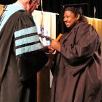 L-R Chancellor Tom Rakes and Meleshia Hendrix (Sheila Scott)