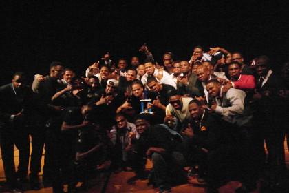 Alpha Phi Alpha Fraternity celebrates Step Show win