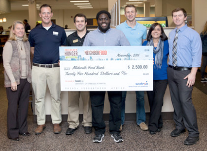 UTM student helps food bank with sweepstakes win