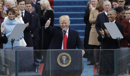 Trump inaugurated as new U.S. president