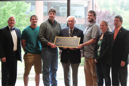 Solar Garden dedication recognizes partnership of campus and community