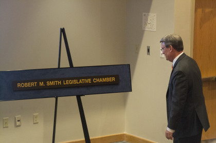 Legislative Chambers dedicated to former chancellor